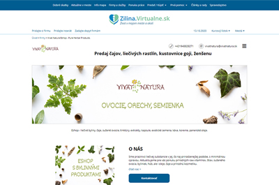 Zilina.Virtualne.sk » Vivat Natura Eshop - Pure Herbal Products